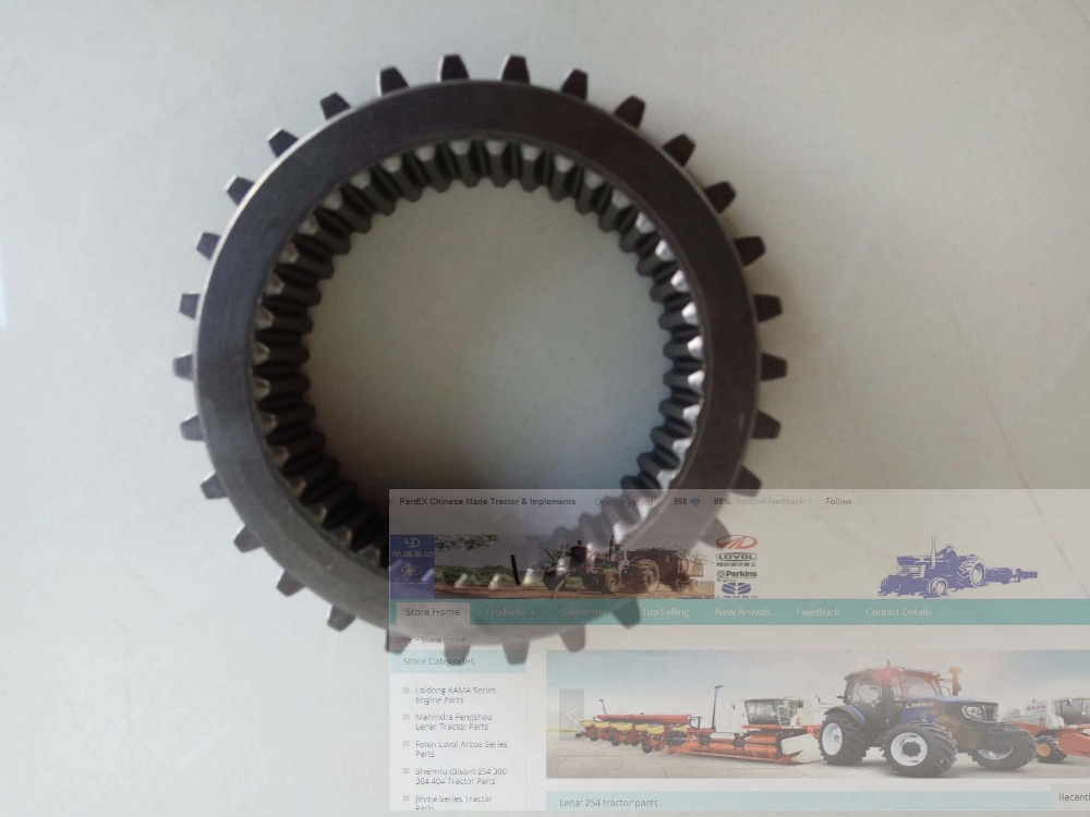 FT700.37.137, the driven gear for reverse shift of Foton Lovol 80hp series tractor toro t5 series gear driven shrub rotor