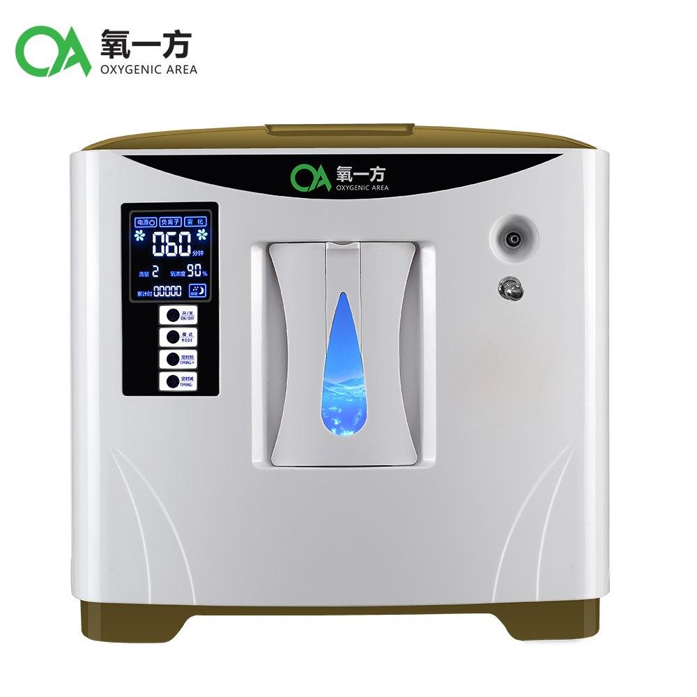 9L grande Fluxo de uso doméstico mini gerador de concentrador de oxigênio médico portátil com função de atomização XY-1SM