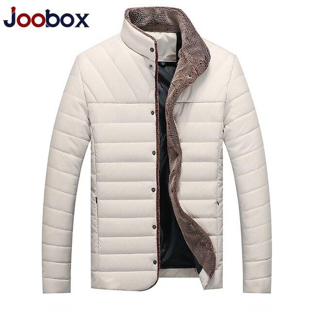 lowest price c6a79 e5738 JOOBOX Winter Jacke männer PU Fleece Dicke Warme Parkas Männer Gepolsterte  Mäntel Mode Herren Marke Kleidung puls größe 5xl