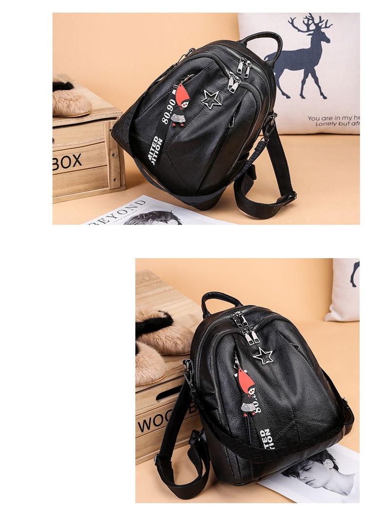 HTB17LncbL1H3KVjSZFBq6zSMXXak Minimalism Female Backpack Pu Leather Youth Women Bagpack Beautiful Fashion Girl Casual Rucksacks Lady Shoulder Bag 2019 New