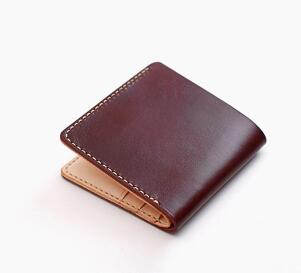 2017 hot sell genuine leather wallet men wallet with box can Customized free shippng