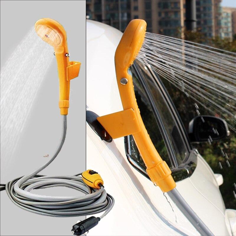 ac634b8d7 Camping chuveiro portátil chuveiro chuveiro carro USB DC 12 V bomba de  pressão chuveiro ducha acampamento acampamento ao ar livre Carro de  Estimação máquina ...