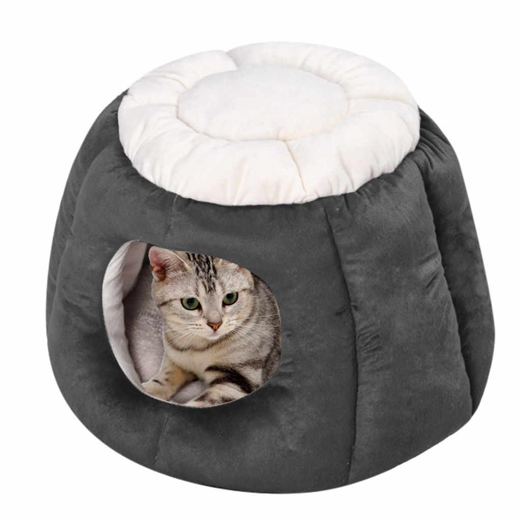 Transer Cama Perro mignon chat maison tissu Pet lit tente chat chenil intérieur chiot tapis grotte Pet fournitures nouveau 19Jan10 P40