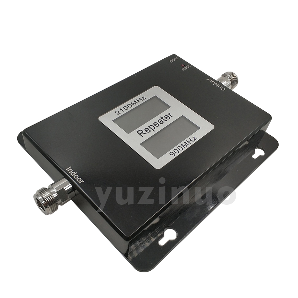 Image 3 - 65dB Gain 17dBm AGC Dual Band Repeater Band 8 GSM 900 LTE Band 1 3G UMTS WCDMA 2100mhz Cellular Mobile Signal Booster Amplifier-in Signal Boosters from Cellphones & Telecommunications