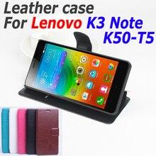 Тонкий кожаный чехол для Lenovo K3 Примечание k 3 флип чехол с карты памяти Lenovo K50-T5 K 50 T5 Кожаный чехол 5.3 дюймов телефон случаях