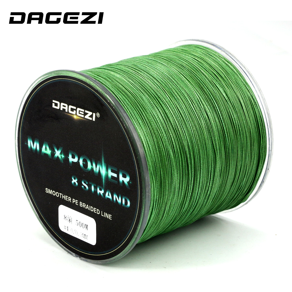 DAGEZI 500m 8 strand braid fishing line Rope Super Strong smoother 100 PE Braided Multifilament fishing