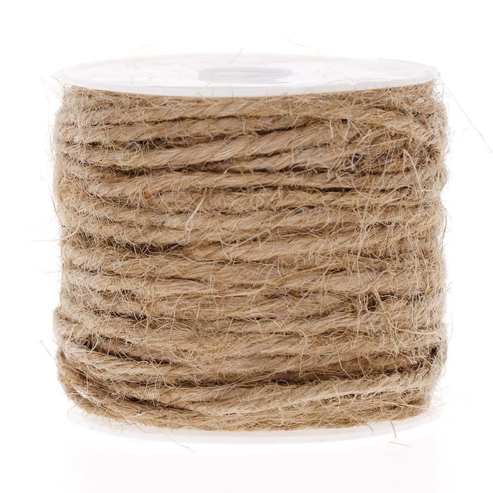 black beige brown grey 10m Natural 2mm hemp cord