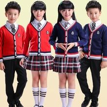 New Autumn Children suits boys and girls school uniforms sweater jacket student class service nursery England uniform