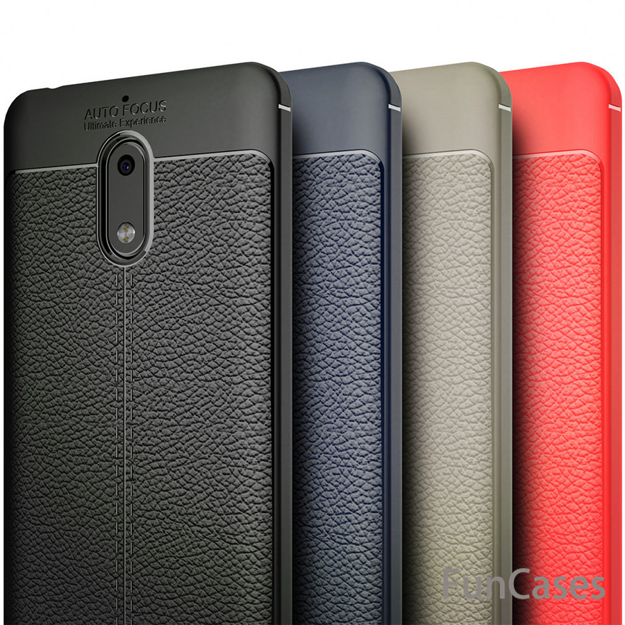 Luxury TPU Silicone Imitation Leather back Case For Nokia 6 Phone Cover For Nokia 6 case kryty phon e wonderful telefono