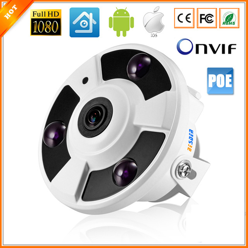 HI3516C SC2035 Full HD 1080P IP Cam 48V 802 3af PoE IP Camera Panoramic Camera IP