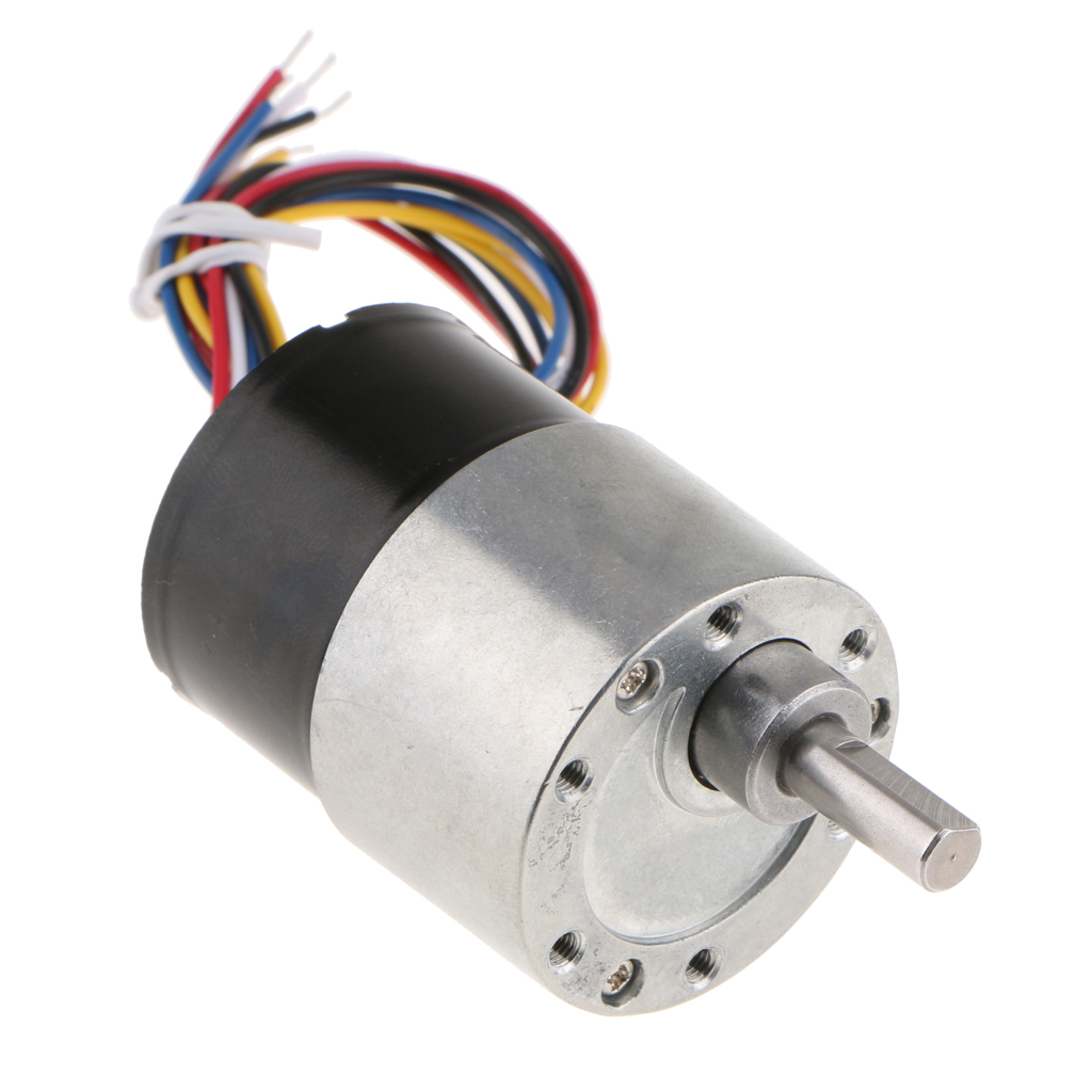 12V DC Mini Brushless Electric Gear Motor Speed Reduction Gearbox 7rpm - 960rpm цена