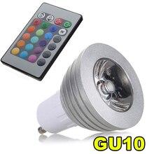 GU10 3 Вт 16 цветов RGB светодиодный светильник лампа + ИК пульт дистанционного управления