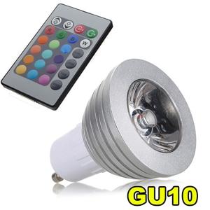Image 1 - GU10 3 Вт 16 цветов RGB светодиодный светильник лампа + ИК пульт дистанционного управления