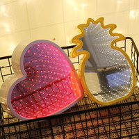 Novelty 3D Colorful Moon Star Cloud LED Night Light Heart Tunnel Atmosphere Lamps Home Decoration Baby