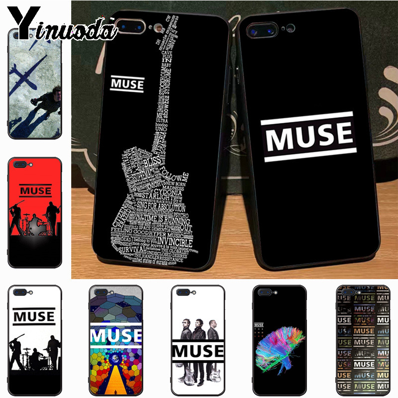 Yinuoda Muse Band Lyrics Music Songs Adorable Drawing Phone Case for iPhone 7plus 6S 6plus 7 8Plus Xs max xr 5S case cover image