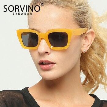SORVINO, gafas de sol cuadradas Retro de alta calidad, moda femenina 2020, diseño moderno, marco grueso atrevido, gafas de sol, gafas de sol transparentes SP11