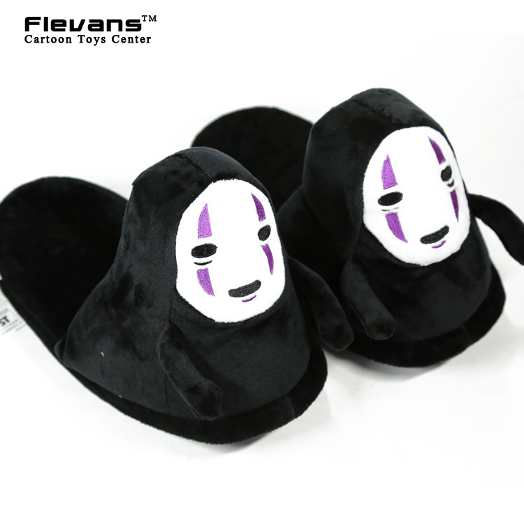 Anime Cartoon Spirited Away No Face Plush Toys Plush Shoes Home House Winter Slippers fo ...