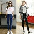 Nueva Marca de Diseño 2016 American Apparel Delgado Femme Plus Tamaño pantalones vaqueros Mediados de Cintura Push Up Flaco Jeans Mujer Causal Lápiz pantalones
