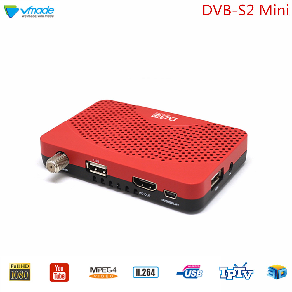 Vmade DVB S2 Super Mini TV Tuner DVB S2 Digital Satellite TV Receiver Support H.264 Cccam Youtube IPTV Stardard Set Top Box