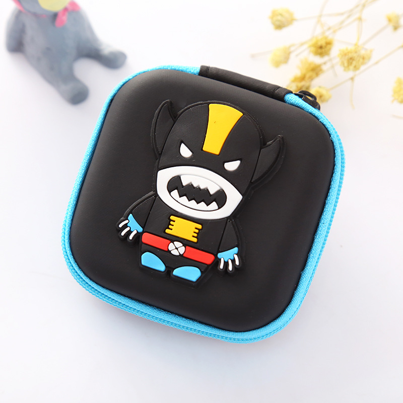 Kids Gift Anime Xman Coin Purse Silicone EVA Small Mini Earphone Storage Bags for Boy Girls Cute Cartoon Change Coin Key Wallets candy colored girls coin bags women key wallets cute pu eva mini square storage hard bag case holder for sd tf card earphone