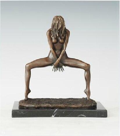 Bronze Skulptur Sammlerstück Statue Erotik Nackte Sexy Girl Bronze Skulptur Bronze