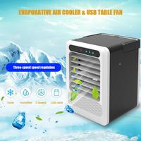 Car Dual Use Air Cooler Portable Small Air Conditioner USB Small Fan With 3 Speeds Wind Adjustable Car Cooling Fan