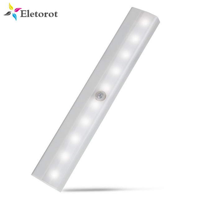 Delicieux Motion Sensor Night Light Potable 10 LED Closet Lights Battery Powered  Wireless Cabinet IR Infrared Motion