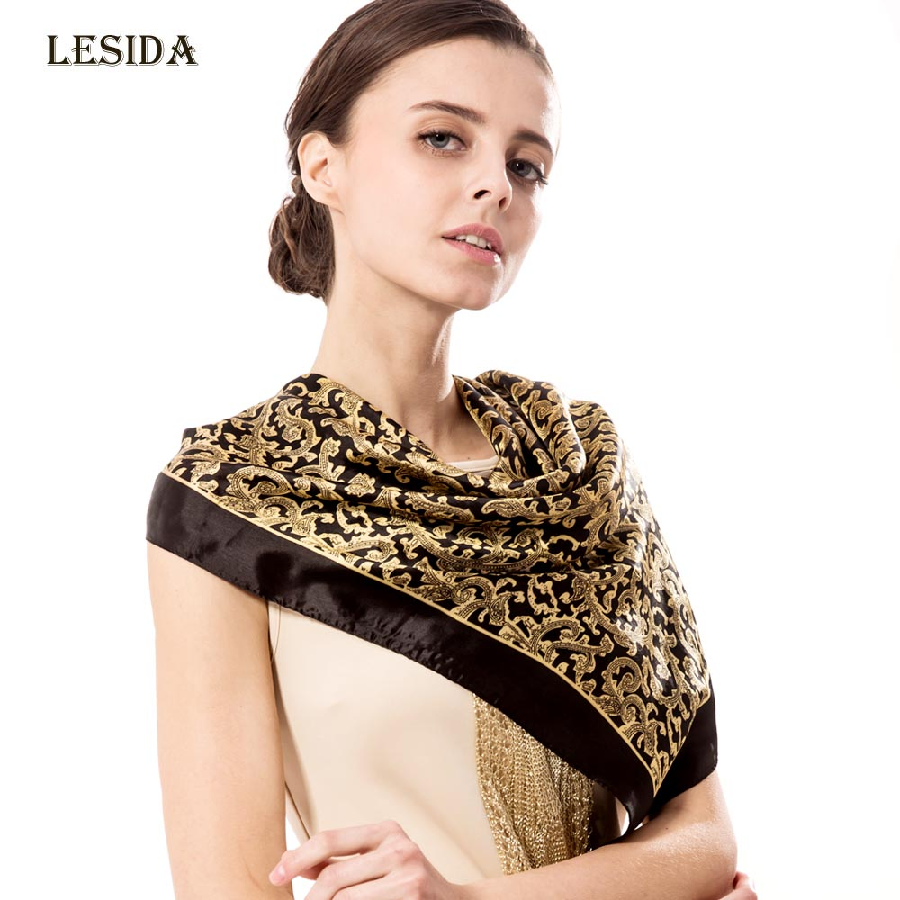 Compare Prices on Black and Gold Silk Square Scarf- Online ...