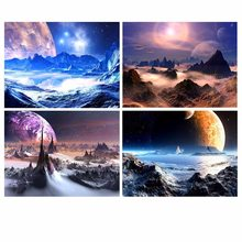 Wall Art Picture Canvas Printed Home Decoration 4 Pieces Sunset Landscape Painting Hd Poster Modular For Living Room Framework(China)