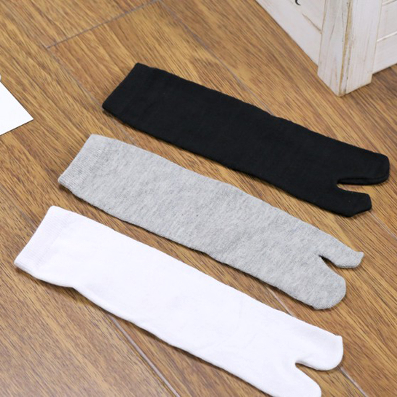 Bamboo  Japanese Men And Women Summer Fiber Two Finger Socks Black Kimono Flip Flop Sandal Split Ninjia White Tabi Toe Socks