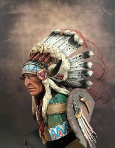 Image 3 - Unassambled  1/10 ancient Leader of the Plains man bust   Resin figure miniature model kits Unpainted