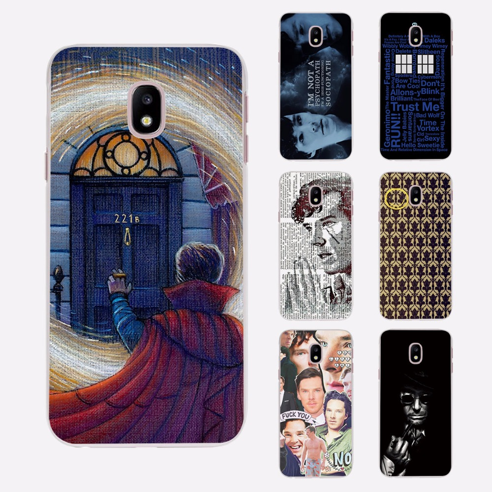 sherlock holmes doctor who Thin Clear phone shell Case for Samsung J3 J7 2017 J5Prime J7Prime J510 J710 J2 2016 J1