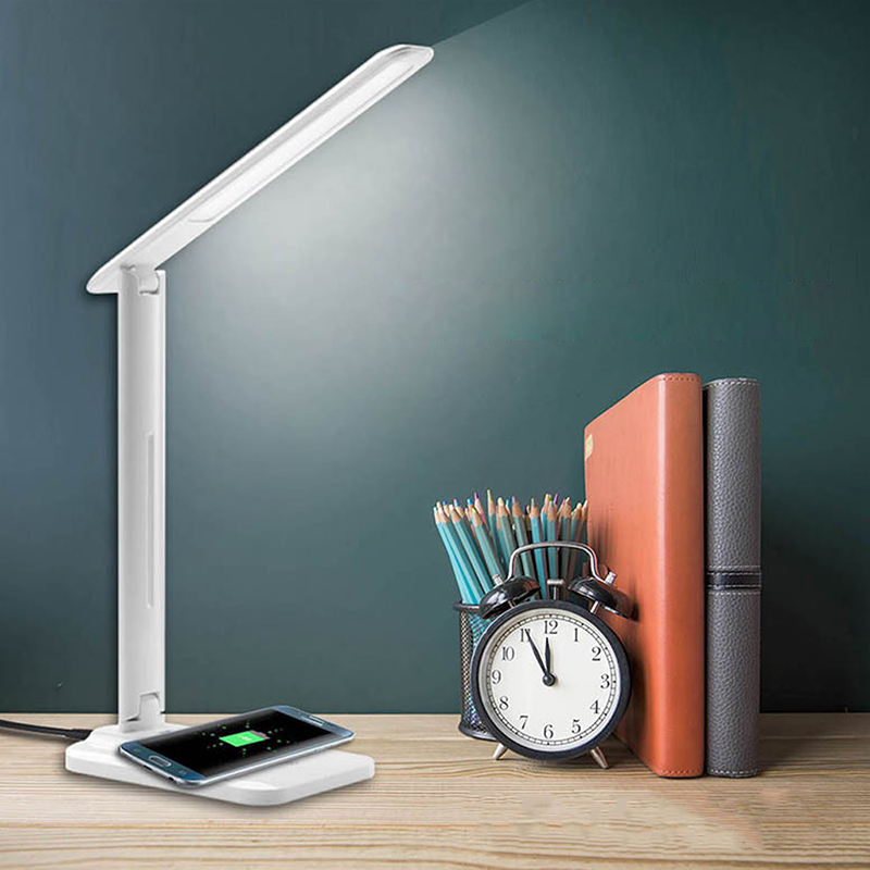 LED Booklight Book Lamp Piano Night Lamp Adjustable Sensitive Light Reading Light Smart QI Wireless Charger USB qi wireless universal charger mobile smart night light 10w