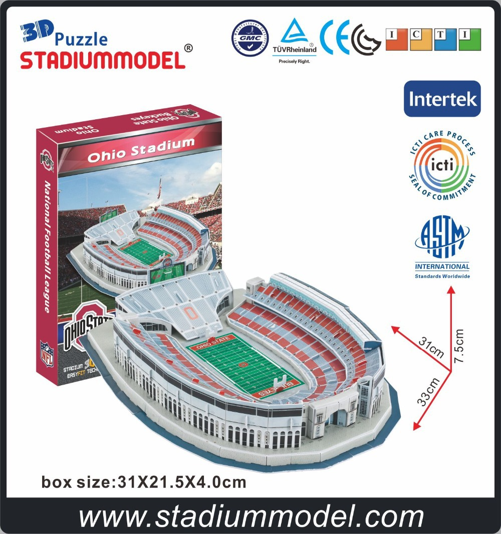 National Collegiate Athletic Association NCAA Ohio Stadium modèle 3D Puzzle papier
