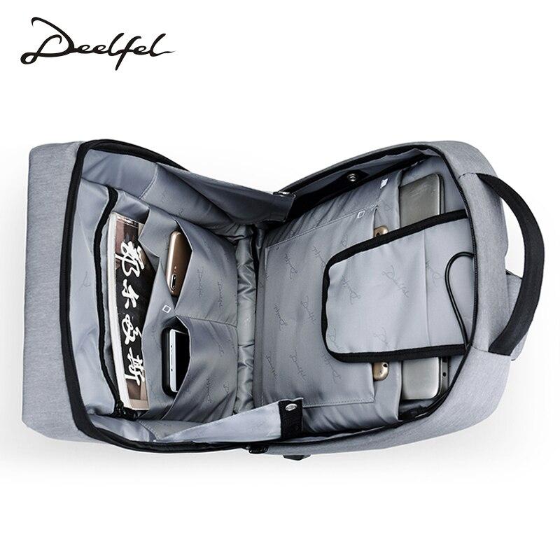 DEELFEL hombres Mochila de viaje de 15,6 pulgadas computadora mochilas para hombre Mochila Anti-robo impermeable bolsas de viaje para los hombres 2018