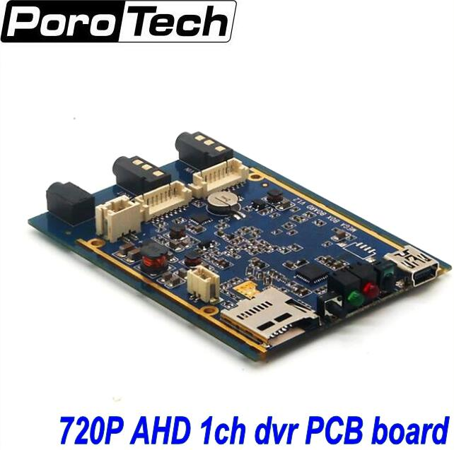 1CH Mini AHD XBOX DVR PCB Board 30fps Security Digital Video Recorder Support 128GB SD Card