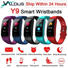 Valdus Y9 Smart Activity Tracker Band Fitness Bracelet Heart Rate Monitor Blood Pressure Wristbands For Smartphone Smartband