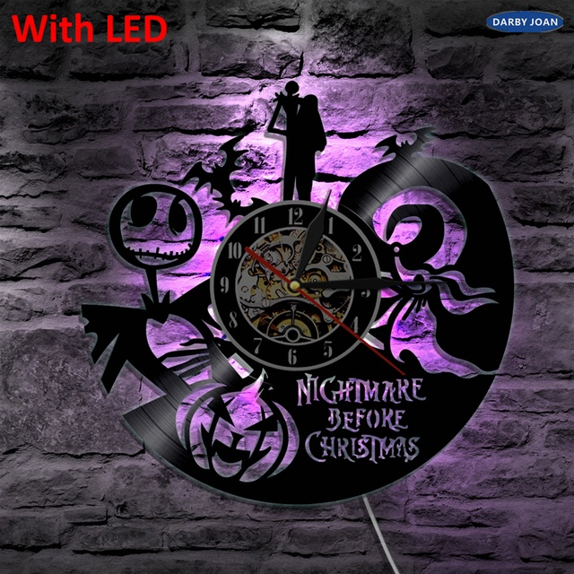 Nightmare Before Christmas Art Decorative Handmade Wall Lamp Color Changing LED Light With Remote Controller Unique