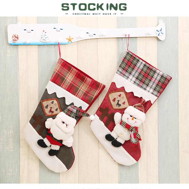 christmas stockings gift bag christmas decoration for home holder stocking for kids adult children xmas party gift supplies in stockings gift holders