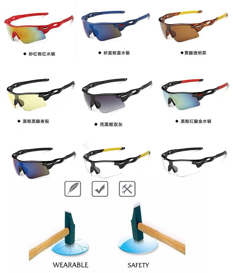 High quality UV400 Cycling Glasses Outdoor Sports Bicycle Glasses Bike Sunglasses Men Women bicicleta mtb Goggles Eyewear