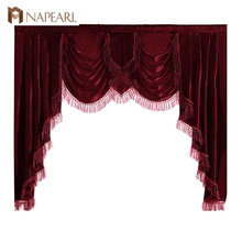 NAPEARL 1 Piece Luxury Valance Curtains Short Solid Color Dr