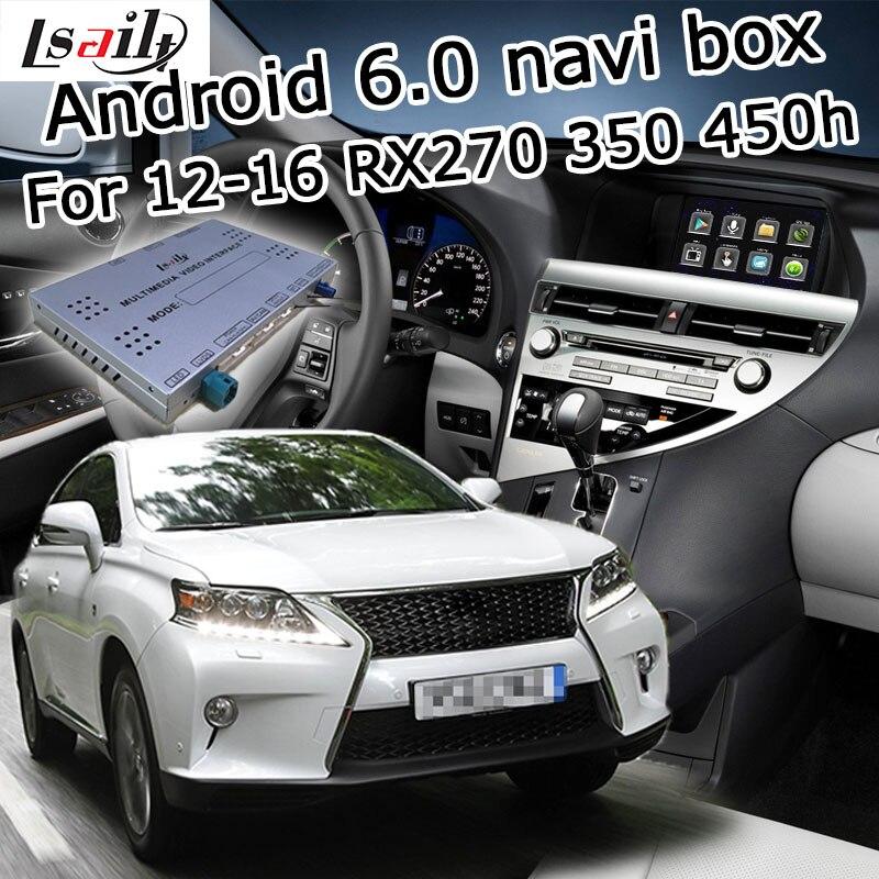 Android 6.0 GPS навигация коробка для Lexus <font><b>RX</b></font> 2012-2016 и т. д. видео интерфейс с gvif LVDS YouTube ролях экран мышь управления RX270