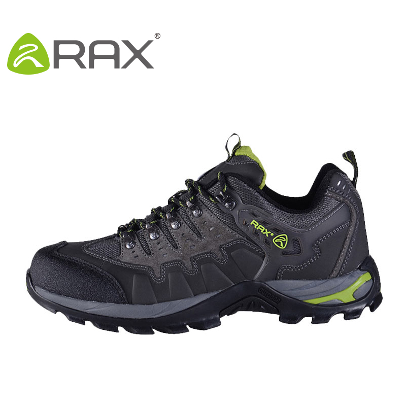 Rax Winter Men Genuine Leather Hiking Shoes Women Antislip Damping Outdoor Trekking Sneakers Unisex Lace Up