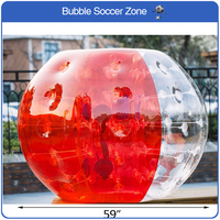Free Shipping 1.5m TPU Inflatable Bubble Soccer Ball Bubble Football Air Bumper Ball Inflatable Zorb Ball Bubble Ball Soccer