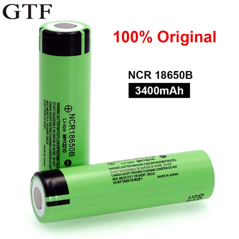 GTF 3.7V <font><b>18650</b></font> Battery <font><b>NCR18650B</b></font> Li-ion Rechargeable Battery 3400Mah 3.7V Cells For <font><b>Panasonic</b></font> Vape E-cigarette Flashlight Torch image