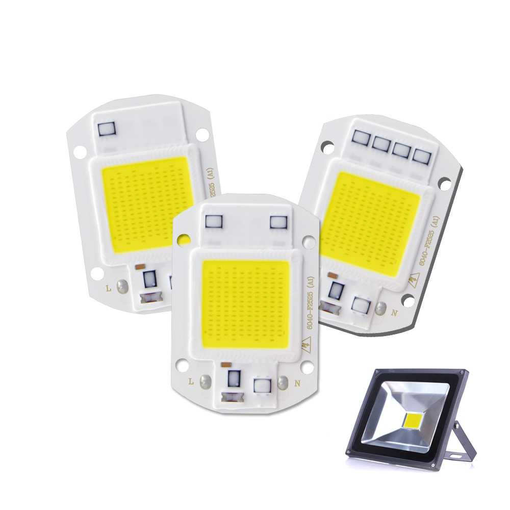 220V LED Chips LED Light Source For Floodlight 20W 30W 50W COB LED Chips DIY Outdoor Spotlight High Power Integrated Chip