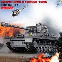1193pcs Military Blocks Compatible LegoINGLY War Tank 3D Model PZKPFW IV Building Blocks Toy Kit Educational Toys For Children