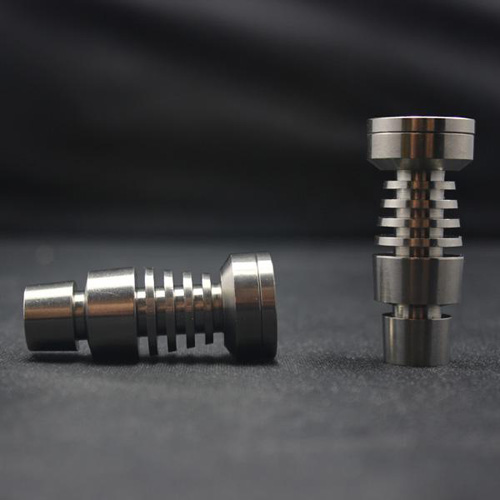 wholesale Titanium Nail Titanium GR2 Nail Joint Both 14mm and 18mm Glass Hookah Smoking Water Pipe Hookahs in Tobacco Pipes Accessories from Home Garden