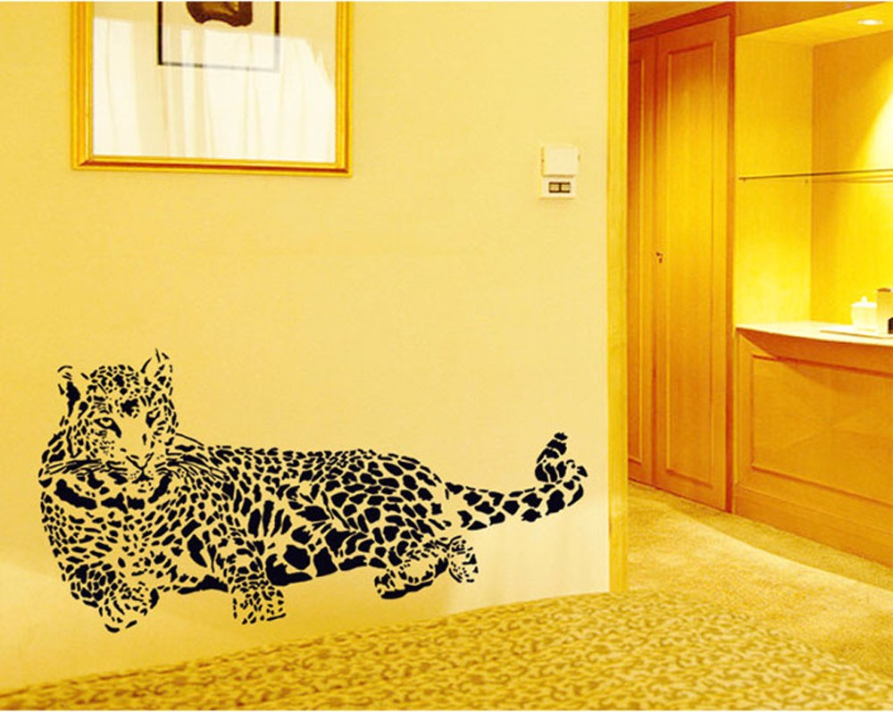 Nice Leopard Wall Art Decal Home Decor Images - The Wall Art ...