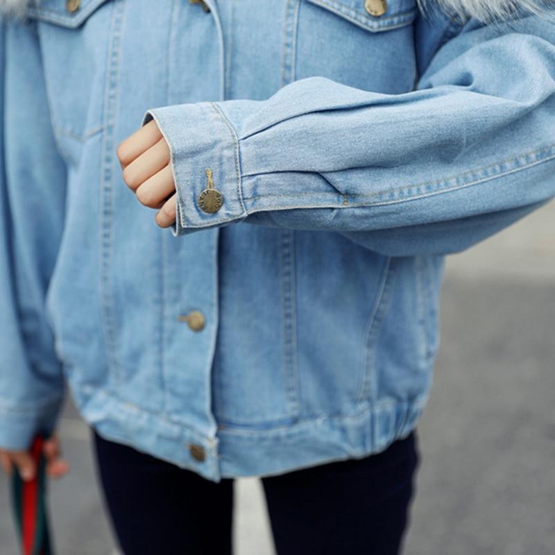 Del Jeans Signore Blu Deinmn Faux Caldo Delle Fodera Medio Ragazze Donne Cappotto Inverno Con Shearling Parka Giacca Di Pelliccia 2018 Cappuccio Peso 5gqpTqxw